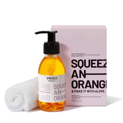Olejek 2w1 do demakijażu i masażu twarzy z kawałkami pomarańczy
