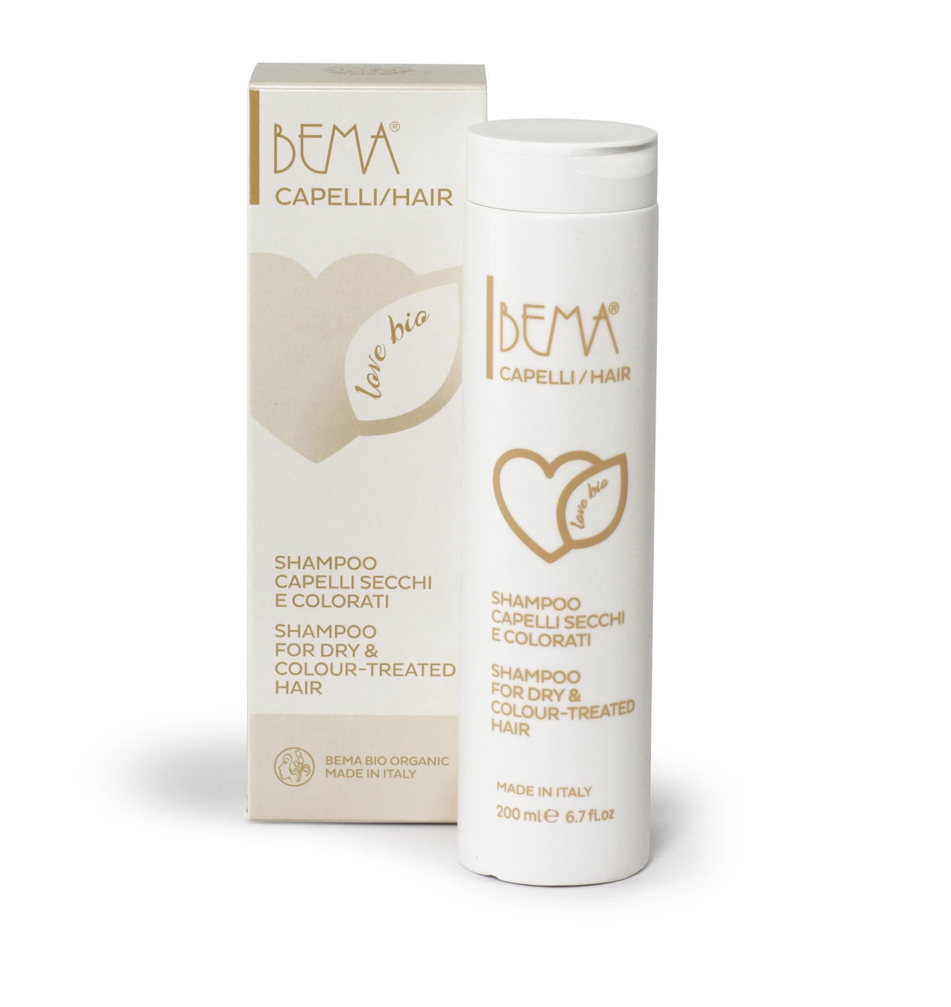 Szampon do włosów suchych i farbowanych Bema Cosmetici Love Bio