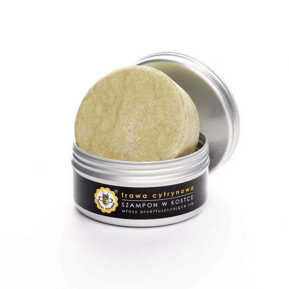 Naturalny szampon do włosów w kostce Trawa cytrynowa Miodowa Mydlarnia