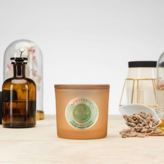 Naturalna świeca do aromaterapii Ożywczy spokój Flagolie