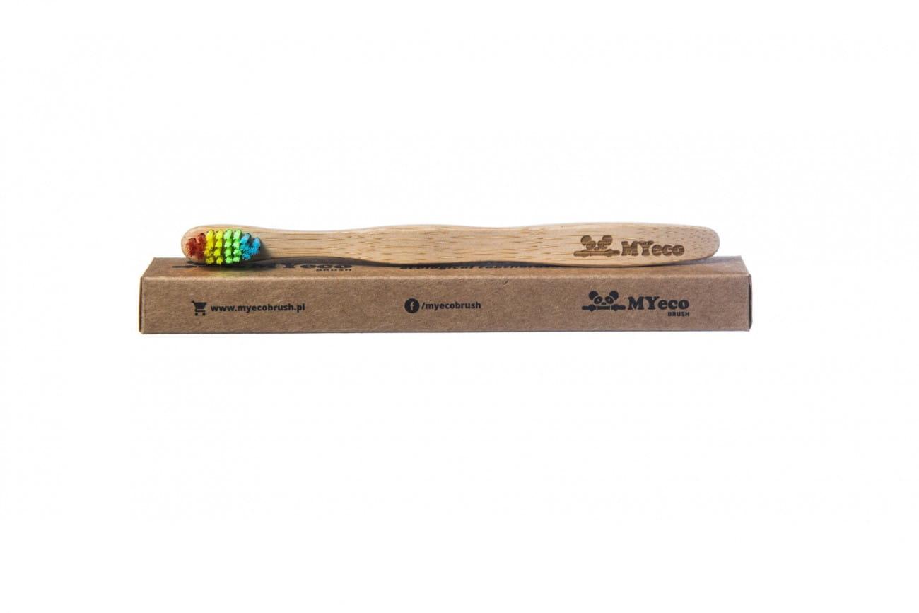 Szczoteczka bambusowa do mycia zębów dla dzieci