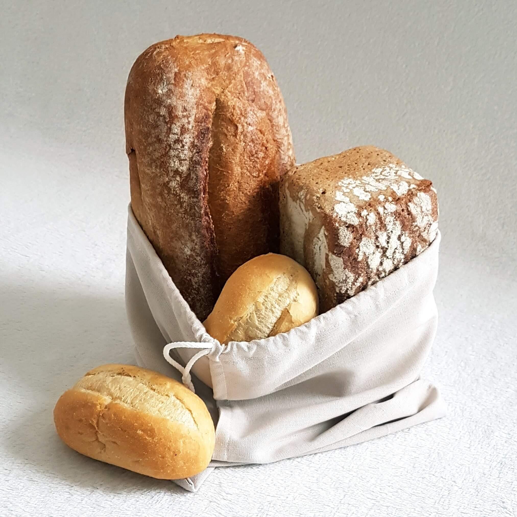 Worek lniany duży na chleb